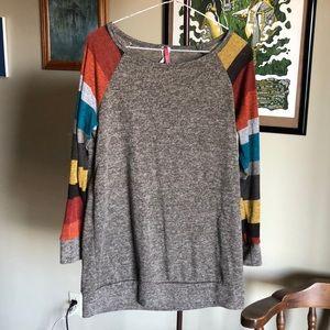 Bellamie Women's Medium Tunic Long Sleeve Sweater